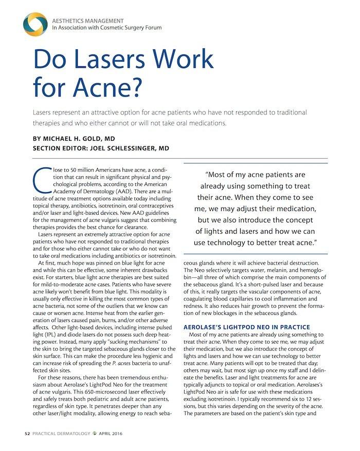 Clinical Articles • Aerolase